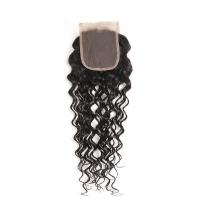 Quality Peruvian Human Hair Closures With A Natural Part , Remy Hair Lace Closure wholesale