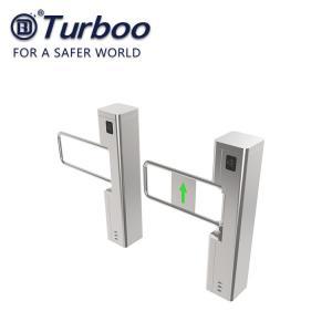 Quality Stainless Steel Supermarket Swing Gate Turnstile Bi Directional Single Passage wholesale