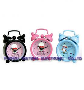 Quality desktop clock alarm clock lovely design plastic colorful material wholesale