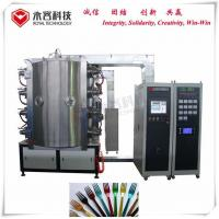 China Brass / Bronze Pvd Vacuum Coating Machine , Forks Tin Gold Plating Equipment on sale