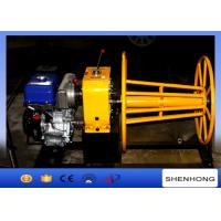 Quality 3 Ton Wire Rope Take Up Winch , Cable Reel Winch With YAMAHA Gas Engine wholesale