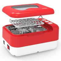 Quality Portable Small Ultrasonic Cleaner , Red Ultrasonic Dental Cleaner CE Rohs wholesale