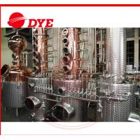 Quality 200L - 5000L Copper Distiller Apparatus , Whiskey Distillation Equipment wholesale