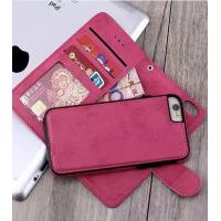 Vintage Iphone7 Plus 2 In 1 Wallet Case Three Credit Card Slot 16.8 * 8.4 * 1