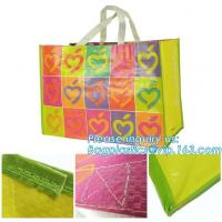 China Hot Sale Promotional Colorful Custom Reusable PP Woven Shopping bag,Tote Fabric Polypropylene Laminated PP Non Woven Bag on sale