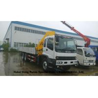 Quality ISUZU 5 Ton -14 Ton Truck Mounted Crane With Telescopic Boom And Knukled Boom wholesale