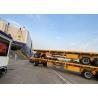 Buy cheap 12500*2500mm Flatbed Full Trailer Truck 28T JOST Landing Gear from wholesalers