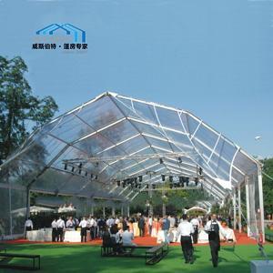 Quality Exterior Polygon Tent PVC Coated Fabric Big Festival Celebration Use wholesale