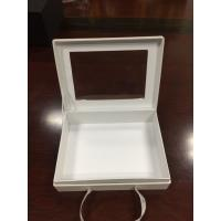 China Paper gift box with bowknots,hardcover box with window, on sale