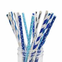 Quality Beverage Juices Smoothie Paper Straws  7.75 Inches Long 0.25 Inches Diameter wholesale