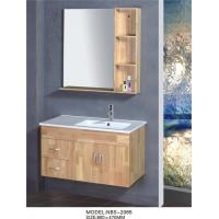 Quality 80 * 80 * 16 cm Mirror natural wood vanity , small bathroom vanity with sink colors available wholesale