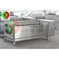 Quality Hot sale continuous onion peeling&washing machine with brush QX-818 wholesale
