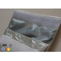Quality Silver + Grey Inside Fiberglass Fabric Fireproof Document Bag Portable wholesale