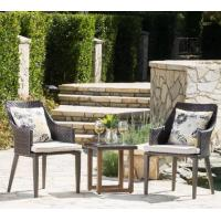 China Modern PE Rattan Chair Aluminium Outdoor Garden wicker table and chairs sets on sale