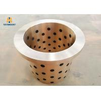 China Oil-Free Graphite Inlaid Flange Copper  Bushing With Low Friction Coefficient on sale