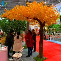 China Garden Autumn Ginkgo Biloba Plant For Home Decoration Artificial Materials on sale