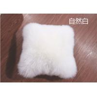 Quality Lambswool Car Seat Headrest Neck Cushion Pillow , Fluffy Hairs Car Neck Support Pillow  wholesale