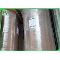 China Food Grade 42/45/47gsm Brown Kraft Paper Roll For Packing Bags on sale