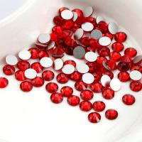 Quality Red Color Heat Fix Rhinestones Lead Free Crystal Material For Bag / Garment wholesale