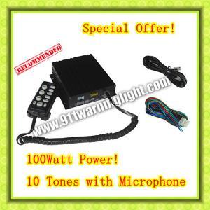 Quality CJB-100Z Car Siren, 100W, 2 light switches, 10 tones, volume adjustable wholesale