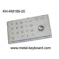 Buy cheap Rugged Kiosk Entry Keypad With Trackball , 24 Keys Stainless Steel Keypad from wholesalers