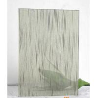 Quality 12mm Tempered Laminated Patterned Glass Panels Fire Proof Guard Against Theft wholesale