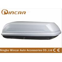 Quality Single Open Black Car Roof Boxes in ABS Material 380L Capacity , 3mm ABS board wholesale