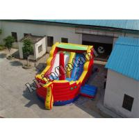 Quality Custom Pirate Boat Inflatable Dry Slide / Inflatable Slides For Rent wholesale
