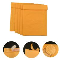 Quality #000 4x8 Secure self-seal Golden Yellow Kraft Bubble Padded Mailers for shipping mailing supplies wholesale