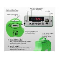 China 10 Watt Portable Solar Panel Charger Solar Lighting Radio Music Player Easy Carry System on sale
