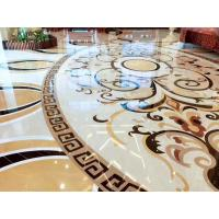 Quality Hall Decorative Natural Stone Floor Medallions Nice Water Jet Pattern wholesale