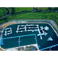 Quality 160mL*69mW Commercial Inflatable Aqua Park For Lake Sea wholesale