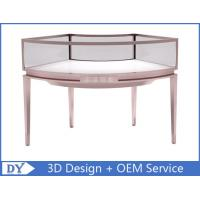 Cheap Stainless Steel Frame Jewelry Display Cases , Jewellery Showroom Furniture for sale