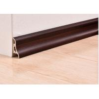 Quality Luxury Wooden White Plastic PVC Decorative Skirting Boards / Cover For Veranda wholesale
