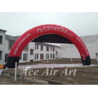 Quality custom giant round inflatable arch with logo for advertising with different banner in sport event wholesale