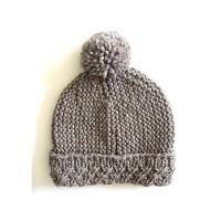 Quality Custom OEM Hand Knit Hats Handmade Baby Beanies Crochet Caps and Photo Props for Newborns Boys & Girls Modern Natural wholesale