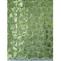 China Eco-Friendly Colored Organza Lace Fabric For Wedding / Party With Handcut Holes on sale