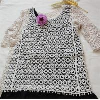 China half sleeveless cotton lace top for ladies outer clothes fashion lace blouse on sale