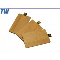 China Natural Wood Credit Card 1GB USB Disk Drive Twister UDP Full Color Printing on sale