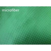Quality Green 150cm Width Microfiber Cleaning Cloth 300gsm Density Waffle Fabric Absorbent wholesale