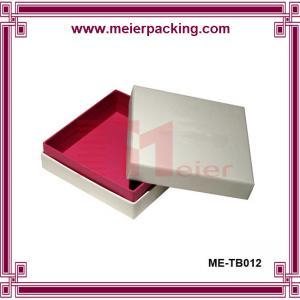 Quality Delicate design apparel paper box, paper scarve gift box ME-TB012 wholesale