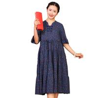 Quality Custom Long Cotton Summer Dresses O Neck With Knee - Length Dresses Length wholesale