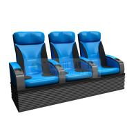 Quality Folded comfortable 4D Theater Seats , Newest Blue 3-DOF platform motion chair wholesale