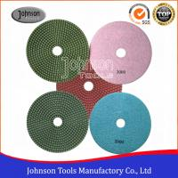 Quality SGS Standard Diamond Wet Polishing Pads 180mm Diamond Resin Polishing Pad wholesale