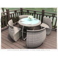 China Outdoor Rattan Table And Chairs Set , Garden Patio Table Set UV Resistant on sale