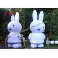 Cheap White Inflatable Bunny Rabbits , Rent Busniess Inflatable Character Balloons for sale