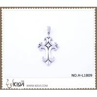 Quality Hot sell 316 Stainless Steel Cross & Death's-Head Pendant H-L1809 wholesale