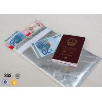 Smooth Surface Fiberglass Document Cash Bags Red Polyester Fabric Inner Layer