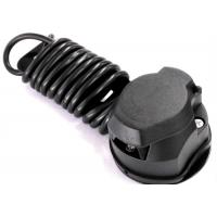 Quality Black 7 Way Trailer Electrical Plug Connecting Tow Vehicle To Semi Truck wholesale