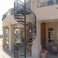 Quality Antique wrought iron stair circular metal spiral staircase wholesale
